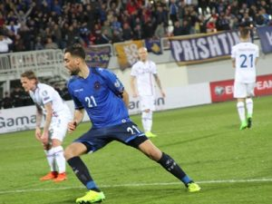 Nuhiu scores a goal for Kosovo