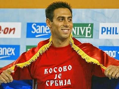 kosovo je srbija swimmer