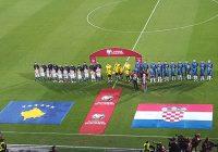 kosovo football teams hears anthem