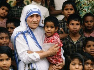 your of the albanians mother teresa with child