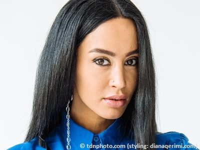 dafina zeqiri close up of face