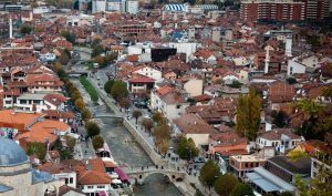a city in kosovo from above
