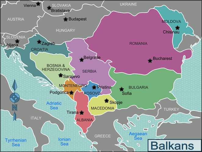 kosovo on the map of the balkans