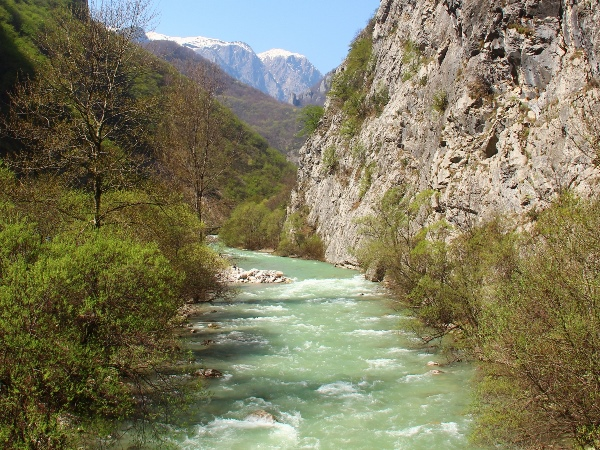 Water in Rugova Valley in Kosovo