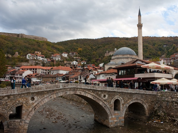 the old town of Prizren in Kosovo
