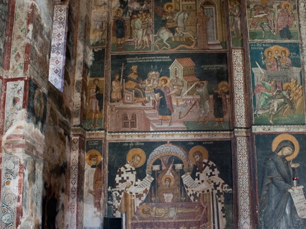 paintings inside the church of decani monastery