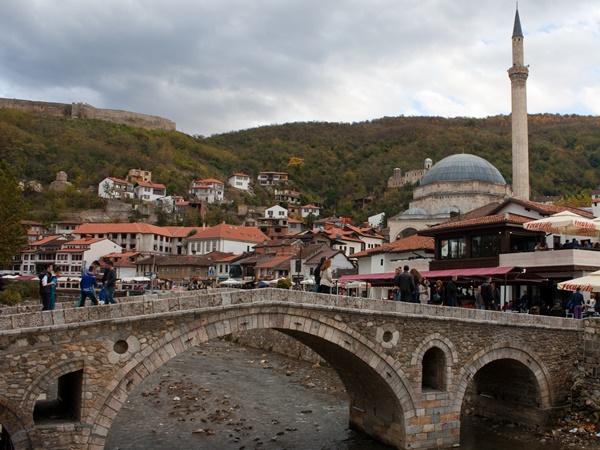 bridge and mosque in Prizren