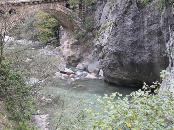 water under bridge in rugova valley of kosovo