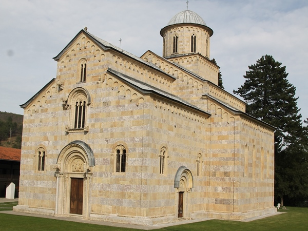 serbian orthodox monastery decan in kosovo
