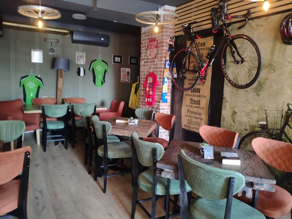 indoor view of bike friendly cafe pristina